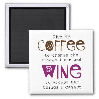 Déme el imán del café y del vino