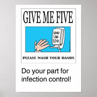Déme el poster handwashing cinco