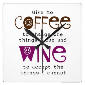 Déme el reloj del café y del vino