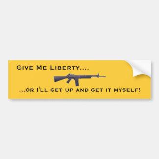 Déme la libertad etiqueta de parachoque