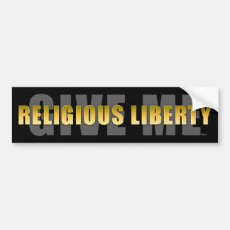 Déme la libertad religiosa pegatina de parachoque