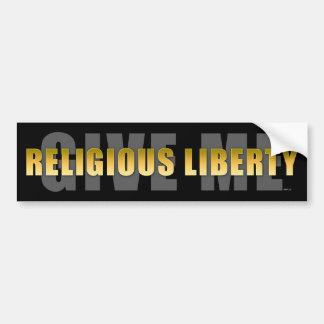 Déme la libertad religiosa pegatina para auto