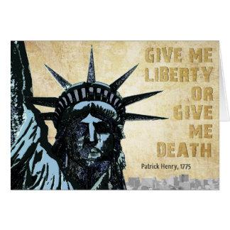 Déme la libertad tarjeta de felicitación