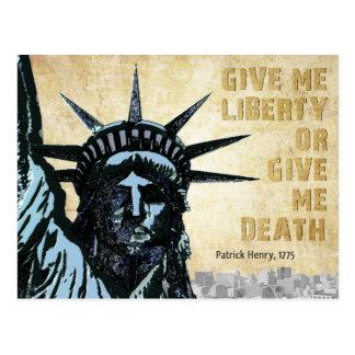 Déme la libertad tarjetas postales