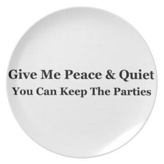 Déme la paz y la tranquilidad que usted puede platos