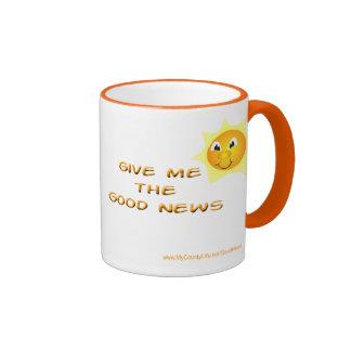 Déme la taza de café de las buenas noticias