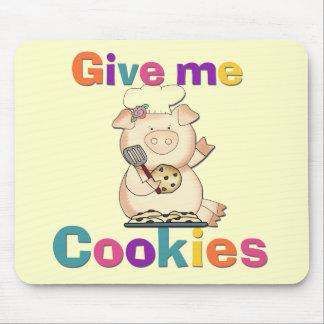 Déme las camisetas y los regalos de las galletas alfombrilla de ratones