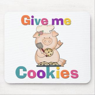 Déme las camisetas y los regalos de las galletas alfombrilla de ratón