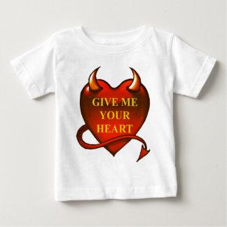 Déme su corazón playera para bebé