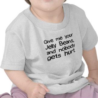 Déme sus habas de jalea camisetas