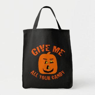Déme todo su bolso de Halloween del caramelo Bolsa De Mano