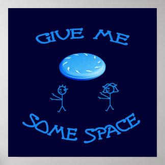 Déme un poco de disco volador del espacio posters