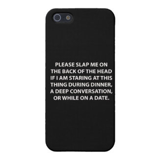 Déme una palmada por favor en la parte posterior. iPhone 5 fundas