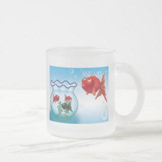 Demekin -Telescope Goldfish- Frosted Glass Coffee Mug