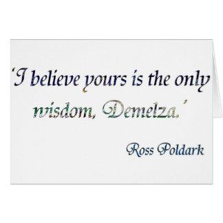 Demelza Poldark Card