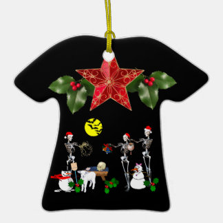 Demented Manger Scene Christmas Tree Ornaments