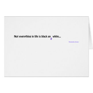 Dementia Aware-Products Clothing Greeting Card