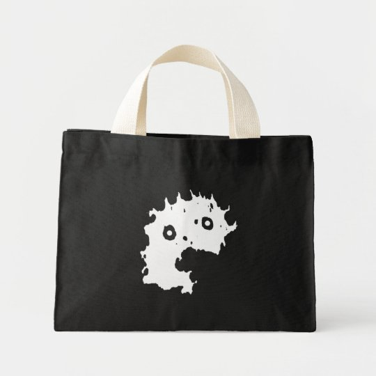 Dementia Comics- Crazy Face Icon (White) Tote Bag