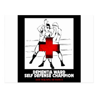 Dementia Ward Self Defense Champion Post Card