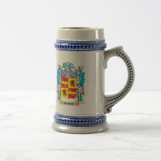 Demer Coat of Arms - Family Crest 18 Oz Beer Stein