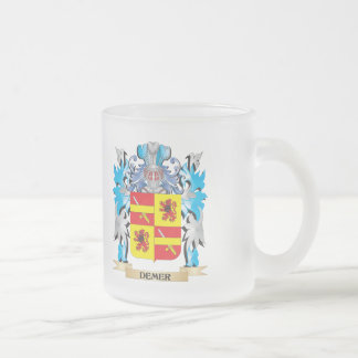 Demer Coat of Arms - Family Crest 10 Oz Frosted Glass Coffee Mug