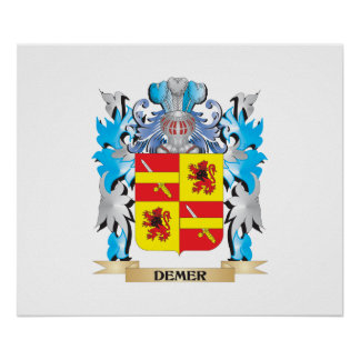 Demer Coat of Arms - Family Crest Poster