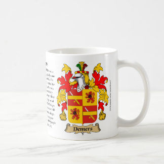 Demers, the Origin, the Meaning and the Crest Classic White Coffee Mug