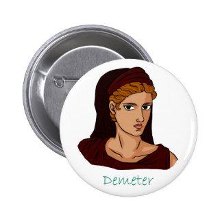 Demeter Badge Pinback Button