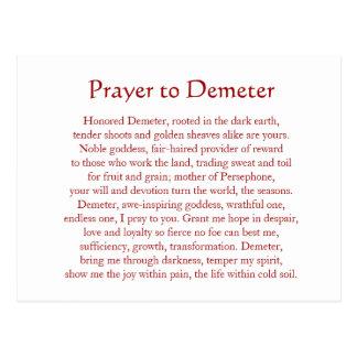 Demeter Keychain Postcard