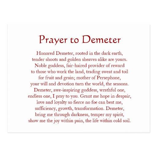 Demeter Keychain Post Card