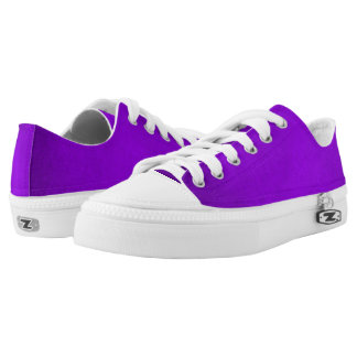 Demeter Purple Plush Custom Zipz Low Top Kickers