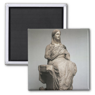 Demeter, statue from Knidos, Asia Minor, c.350BC Magnet