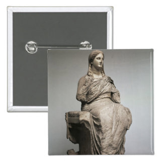 Demeter, statue from Knidos, Asia Minor, c.350BC Pinback Button
