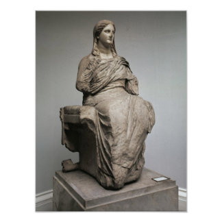 Demeter, statue from Knidos, Asia Minor, c.350BC Poster