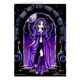 """Demi"" Gothic Blue Butterfly Fairy Art Card"