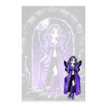 """""""Demi"""" Gothic Blue Butterfly Fairy Art Stationery"""