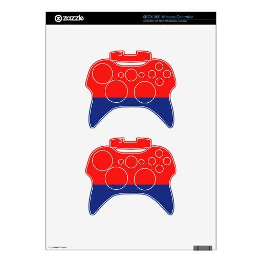Demi-Raya roja y azul Mando Xbox 360 Skin