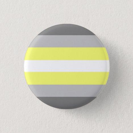 Demigender Pride Flag Badge Button
