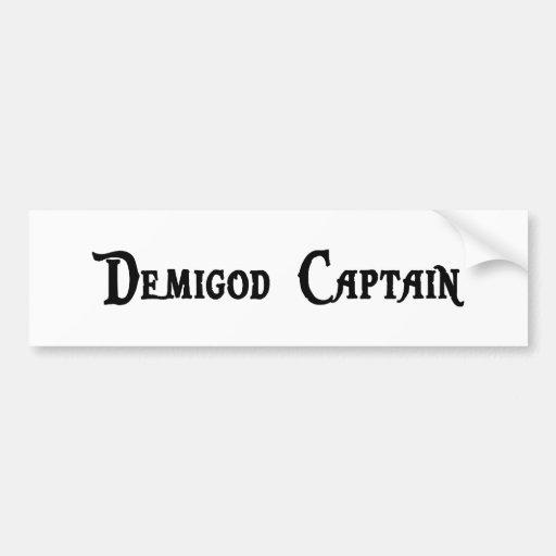 Demigod Captain Sticker Bumper Sticker