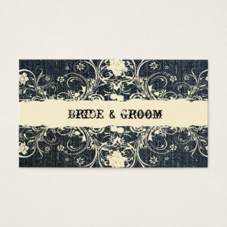 Demin and Cream Lace Place Cards