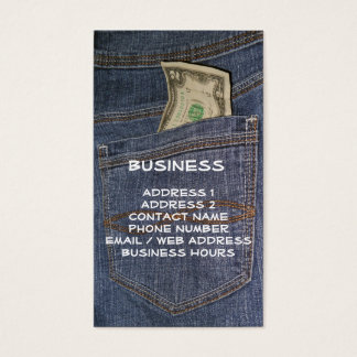 Demin Jeans Pocket & US Money Business Cards