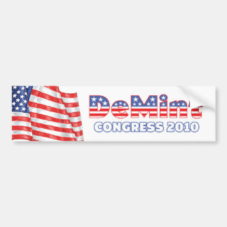 DeMint Patriotic American Flag 2010 Elections Car Bumper Sticker