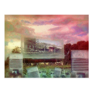 Demise of the Drive-in Theatres Postcard