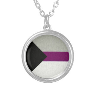 Demisexual Flag Personalized Necklace