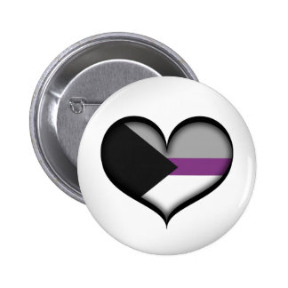 Demisexual Heart Pinback Button