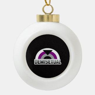 Demisexual Pride Ceramic Ball Christmas Ornament