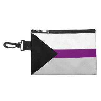 Demisexual Pride Flag - Black White Grey Purple Accessory Bag