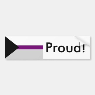 Demisexual Pride Flag Bumper Sticker