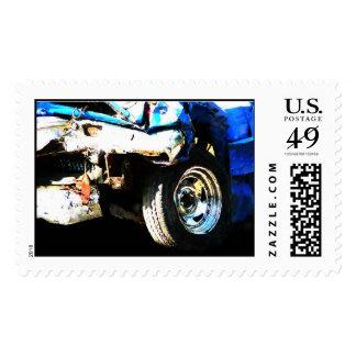 Demo Derby Car Postage Stamps