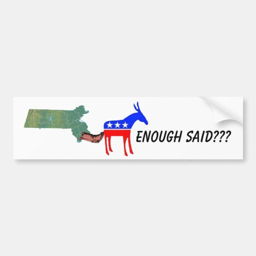 Demo donkey booted car bumper sticker